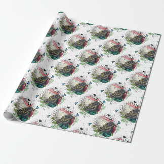 Grunge Silver Disco Ball Wrapping Paper