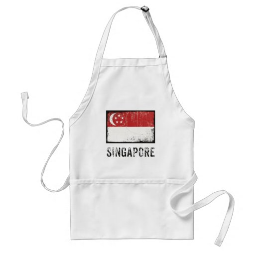 Grunge Singapore Standard Apron