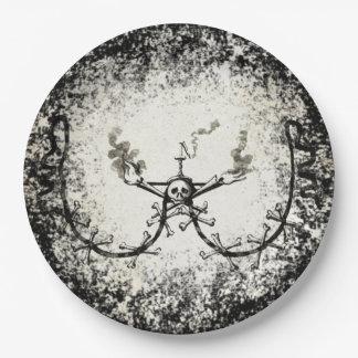 Grunge Skeleton Paper Plates