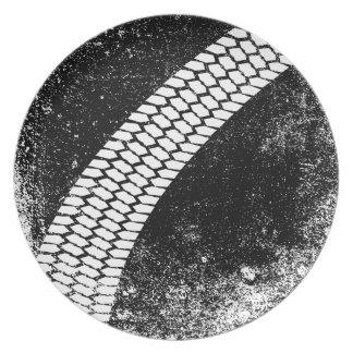 Grunge Skid Mark Plate