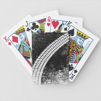 Grunge Skid Mark Poker Deck