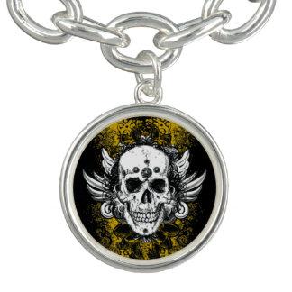 Grunge Skull Charm Bracelet