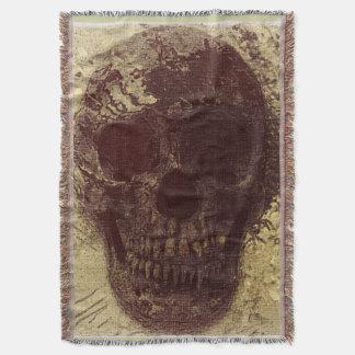 Grunge Skull Throw Blanket