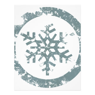 Grunge Snowflake Customized Letterhead