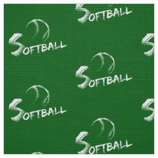 Grunge Softball Dark Green Fabric