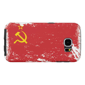 Grunge Soviet Union Flag - USSR Samsung Galaxy S6 Cases
