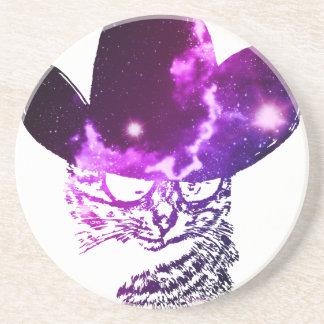 Grunge Space cat 2 Coaster