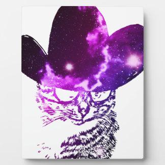 Grunge Space cat 2 Plaque