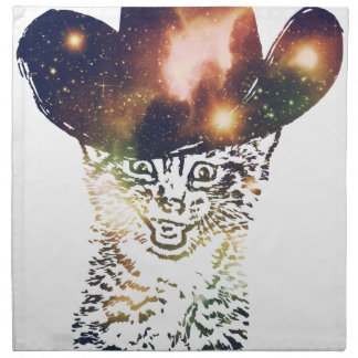 Grunge Space cat 3 Napkin