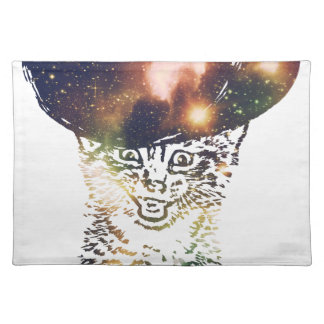 Grunge Space cat 3 Placemat