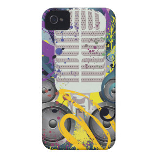 Grunge Speaker and Microphone3 iPhone 4 Case