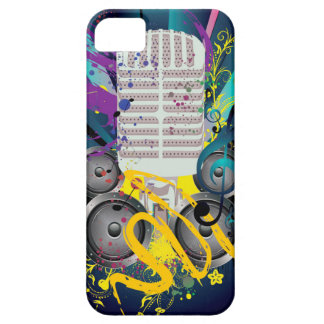 Grunge Speaker and Microphone3 iPhone 5 Case