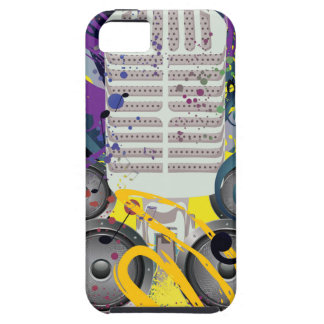 Grunge Speaker and Microphone3 iPhone 5 Cover
