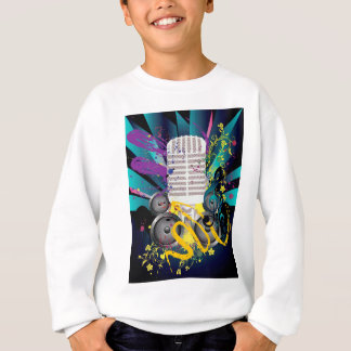 Grunge Speaker and Microphone3 Sweatshirt