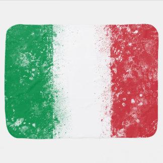 Grunge Splatter Painted Flag of Italy Baby Blanket