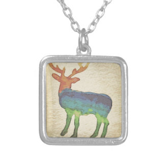 Grunge Stag Silver Plated Necklace