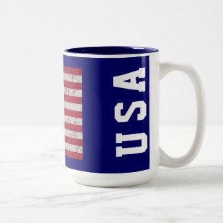 Grunge Stars and Stripes USA Mug
