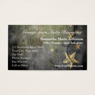 Grunge Stars Vintage Design Business Card