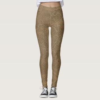 Grunge Steampunk Brown Yoga Leggings