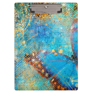 Grunge Steampunk Butterfly Abstract Design Clipboards