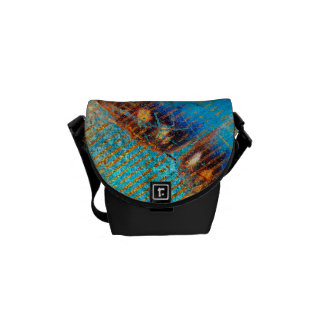 Grunge Steampunk Butterfly Abstract Design Messenger Bag