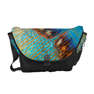 Grunge Steampunk Butterfly Abstract Design Messenger Bags