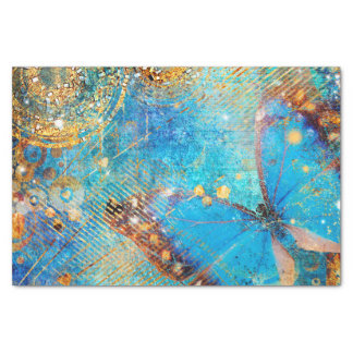 Grunge Steampunk Butterfly Abstract Design Tissue Paper