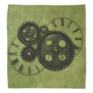 Grunge Steampunk Clocks and Gears Bandana