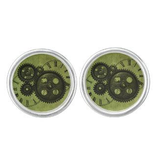 Grunge Steampunk Clocks and Gears Cufflinks