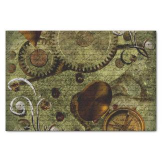 Grunge Steampunk Clocks and Gears Tissue Paper
