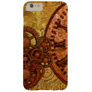 Grunge Steampunk Gear and Clock Barely There iPhone 6 Plus Case