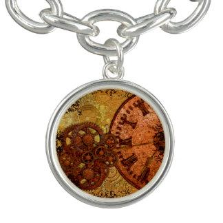 Grunge Steampunk Gear and Clock Bracelets