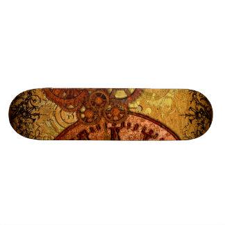 Grunge Steampunk Gear and Clock Skate Board Decks