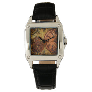 Grunge Steampunk Gear and Clock Watch