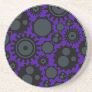 Grunge Steampunk Gears Coaster