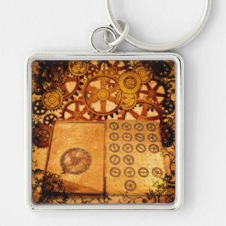 Grunge Steampunk Gears Keychain