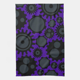 Grunge Steampunk Gears Kitchen Towels