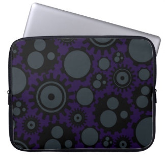 Grunge Steampunk Gears Laptop Sleeve