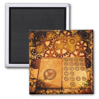 Grunge Steampunk Gears Magnet