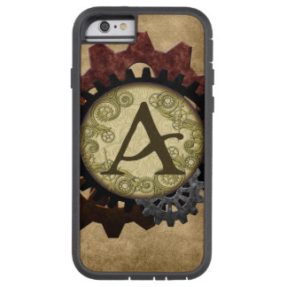 Grunge Steampunk Gears Monogram Letter A Tough Xtreme iPhone 6 Case