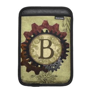 Grunge Steampunk Gears Monogram Letter B iPad Mini Sleeves
