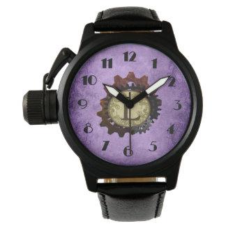Grunge Steampunk Gears Monogram Letter L Watch