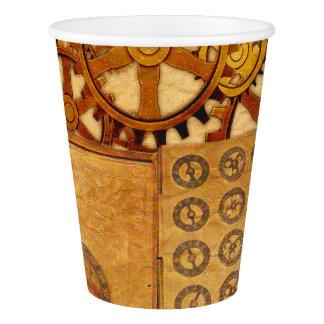 Grunge Steampunk Gears Paper Cup