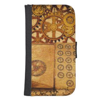 Grunge Steampunk Gears Samsung S4 Wallet Case