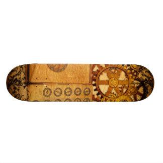Grunge Steampunk Gears Skate Board