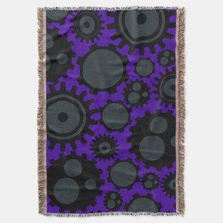 Grunge Steampunk Gears Throw Blanket