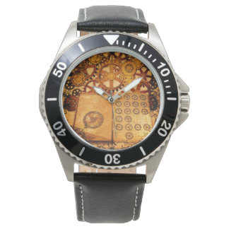 Grunge Steampunk Gears Watch