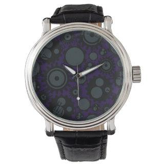 Grunge Steampunk Gears Wrist Watch