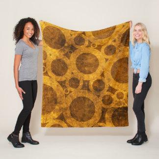 Grunge Steampunk Gold and Brown Fleece Blanket