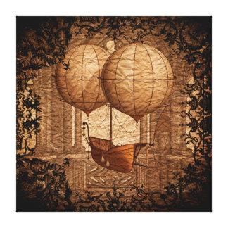 Grunge Steampunk Victorian Airship Canvas Print